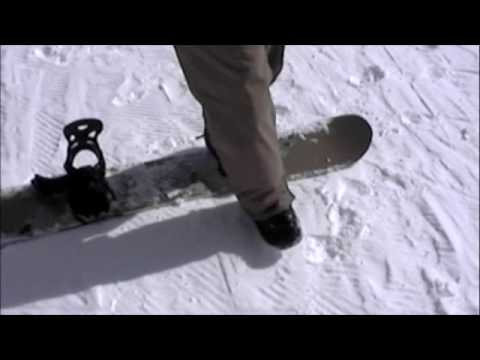 BEGINNER SNOWBOARD LESSON NO FALL SNOWBOARDING FIRST TIME ON SNOW