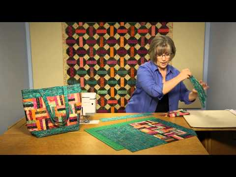 Quilting Quickly: Island Breeze Tote - Batik Quilt Pattern Tote Bag