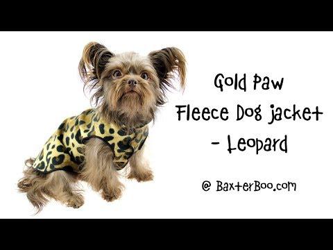 Gold Paw Fleece Dog Jacket - Leopard