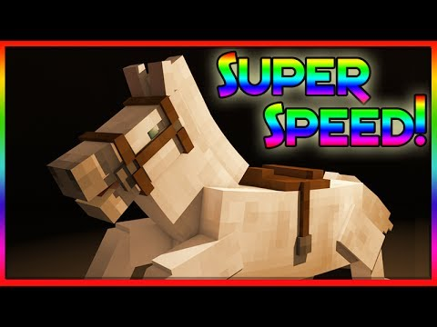 MineCraft 1.8 Super Fast Horses! (Secret Trick)