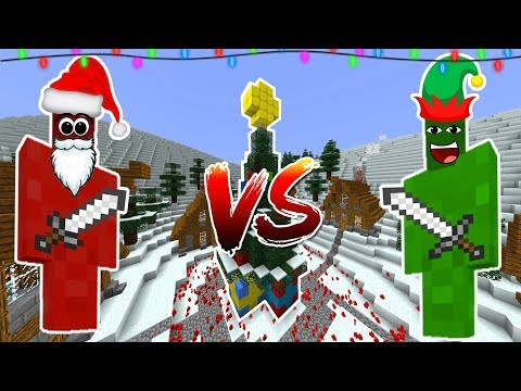 Minecraft CHRISTMAS CLAY SOLDIERS! • Santa VS Elves Battle!