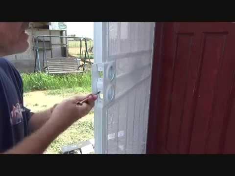 Installing door knobs on a security screen door...Part 1