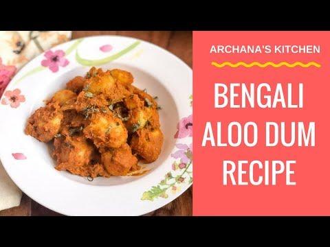 Luchi Bengali Aloo Dum - Dinner Recipes By Archana's Kitchen
