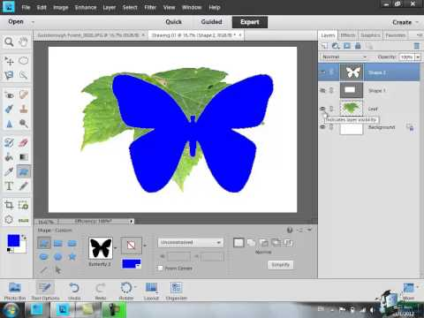 Learn how to use Photoshop Elements 11 - Part 55 - How to Create a New Image and Draw Shapes