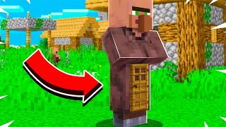 HOW TO LIVE INSIDE A VILLAGER IN MINECRAFT!