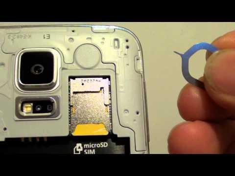 Samsung Galaxy S5: How to Remove SIM Card