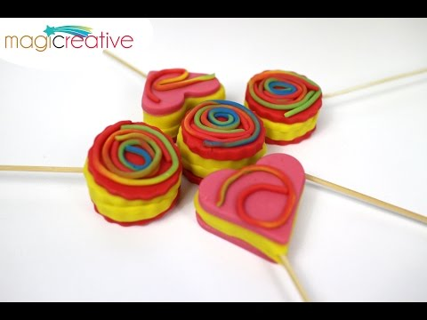 How To Make Play Doh Lollipop Cookies