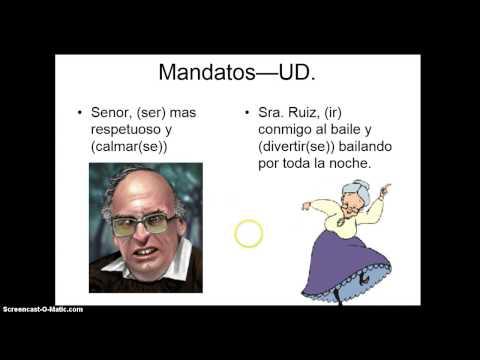 Formal (Ud/Uds) commands- Mandatos formales
