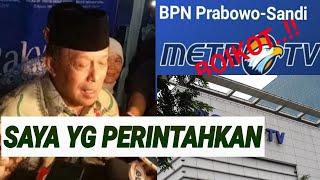 Djoko Santoso Pasang Badan Boikot Metro Tv Waktunya Tidak Ditentukan