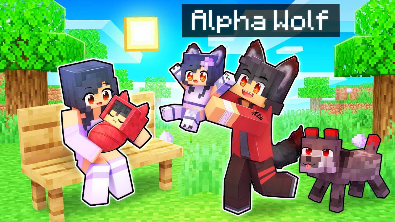 The ALPHA Wolf's FAMILY In Minecraft!