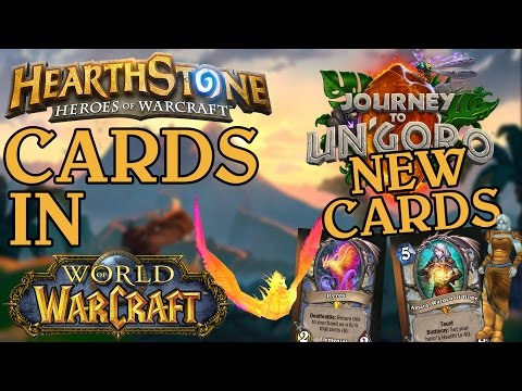 Hearthstone Cards in WoW // Journey to Un'goro // First cards revealed!