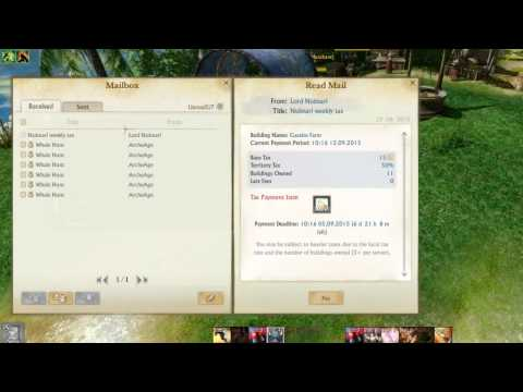 Archeage PSA do not pay your taxes if you are merging