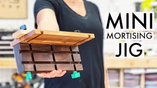 Mini Mortising Jig for LOOSE TENON Joinery! No Domino required! You can even use your trim router!