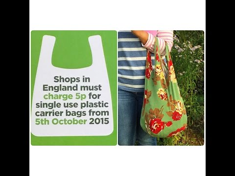How to make a foldable and reusable shopping bag from a vest