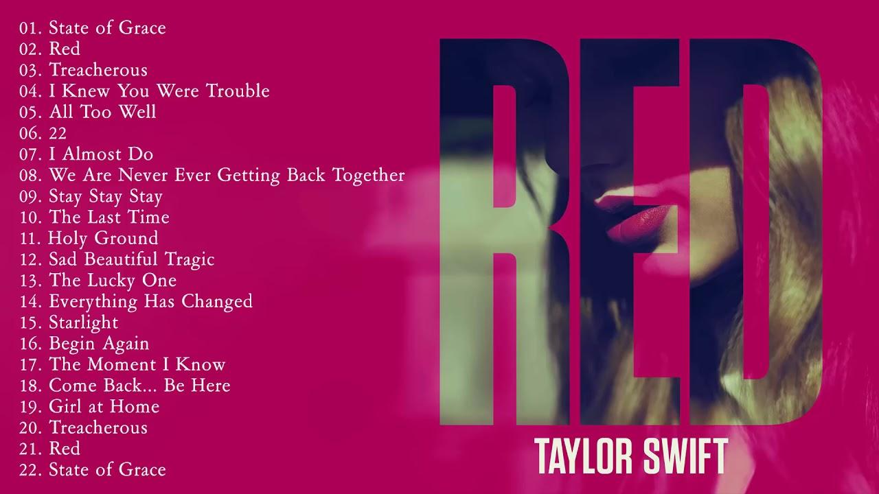 Red  Full Album  -  TAYLORSWIFT