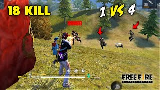 Solo vs Squad Dragunov On Fire 18 Kill OverPower Gameplay - Garena Free Fire