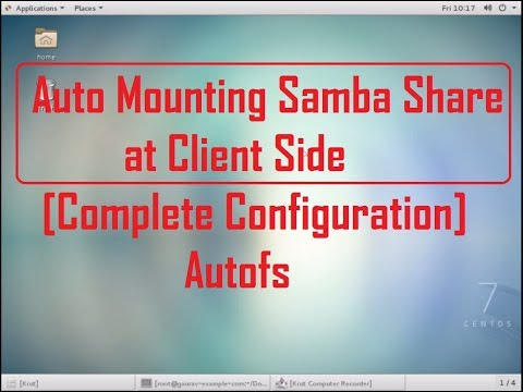 how to configure samba server with auto mounting (autofs) in Centos 7 , Redhat 7