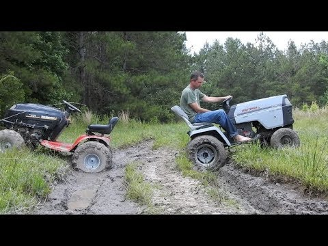 Testing the Craftsman with Chains in the Mud