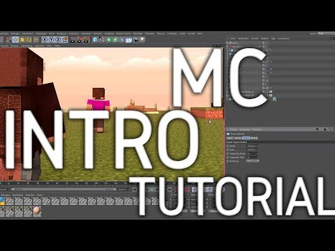 How to animate / make a Minecraft Intro [Tutorial] (Cinema4d + After Effects)