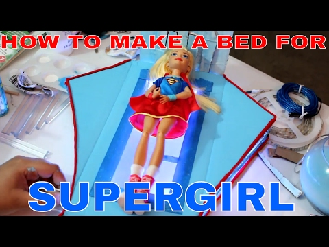 How To Make A Bed For SuperGirl from DC superhero Girls