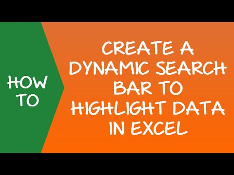 Dynamic Search Bar to Highlight Data in Excel