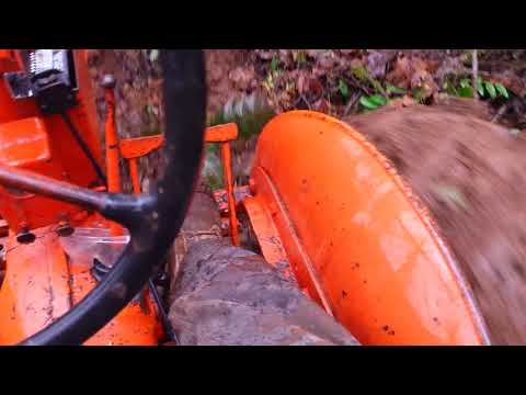 Log hauling with my 1947 Alice Chalmers tractor #2