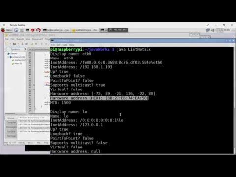 Java to list Network Interface Parameters (include MAC address), run on Raspberry Pi/Raspbian Jessie