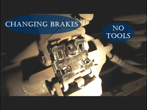 Learn how to replace brake pads on a Lexus- NO SPECIAL TOOLS NEEDED