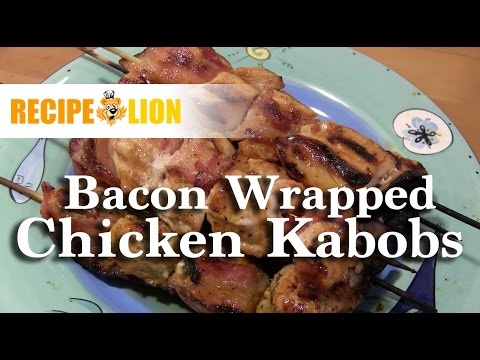 Appetizer Recipe: Bacon Wrapped Chicken Kabobs