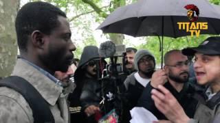 African Christian vs Mansur | Quran Scientifically False Or True? | Speakers Corner