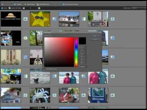 Create a slide show with Elements 10