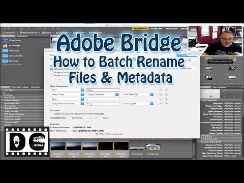 Adobe Bridge: How to Batch Rename files and Metadata
