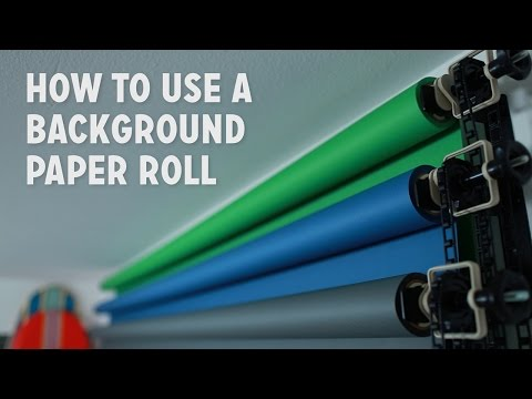 How to Use a Background Paper Roll