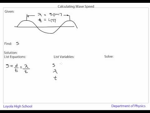 Waves Calculating Wave Speed