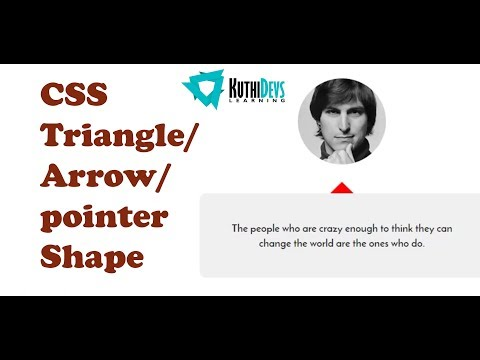 CSS Triangle/Arrow/Pointer shape | How to | Div boxes with arrows and pointers | Bangla Tutorial