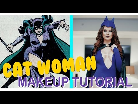 Vintage CAT WOMAN MAKEUP TUTORIAL  | Amanda Cerny