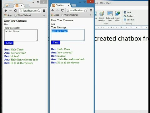 Learn how to create a Chat Box with PHP JavaScript and AJAX
