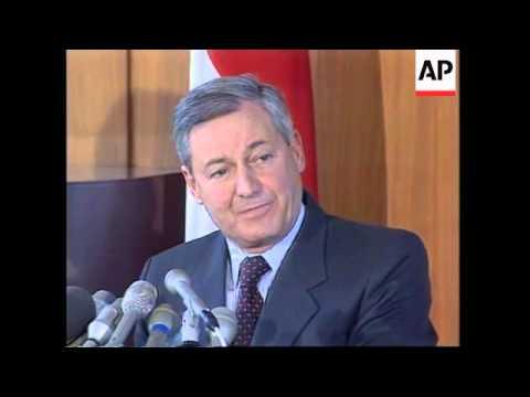 USA: SWISS AMBASSADOR 'NAZI MONEY IN SWISS BANKS' PRESS CONFERENCE