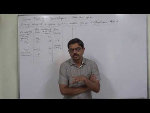 Game Theory - 8 Game without Saddle Point - 2 Mixed Strategy - Solution by Algebraic Method