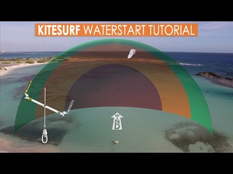 How to Kitesurf: Waterstart Tutorial 2017