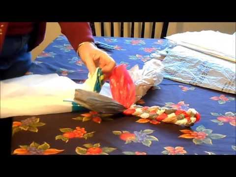 Braided Plastic Bag Rug part 1