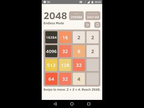 2048 Highest Score and Tile in The End of the Game