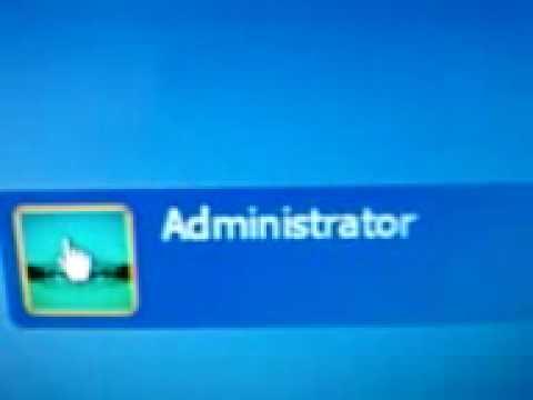 Win XP Administrator Screen
