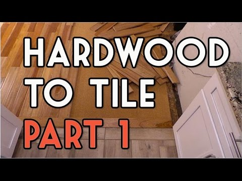 Hardwood to Tile Flooring Transition DIY - Part 1