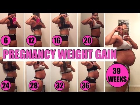 PREGNANCY WEIGHT GAIN | HOW MUCH DID I GAIN?!