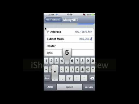 Change Your IP Address and DNS server on the iPhone iPod touch or iPad