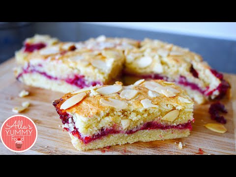 Bakewell Cake Recipe | Миндальный пирог с малиной