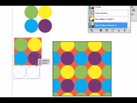 Adobe Illustrator CS5 Pattern Fill Part 2