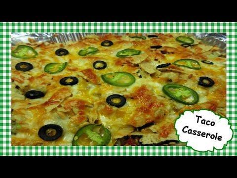 Easy Cheesy  TACO CASSEROLE  Recipe ~ Tex Mex Ground Beef Casserole
