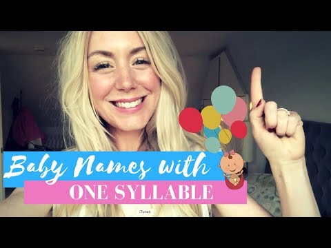 14 ONE SYLLABLE BABY NAMES for Boys and Girls | SJ STRUM